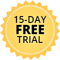 15day free trial badge