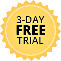 3day free trial badge